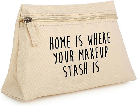 Minga London Casa es donde está bolsa de maquillaje estuche neceser organizador bolso Tumblr carcasa: Amazon.es: Hogar