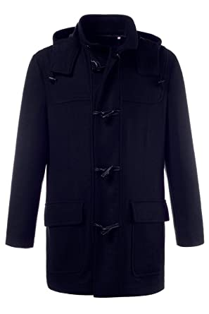 JP 1880 Men's Big & Tall Classic Warm Wool Duffle Coat 706606 at ...