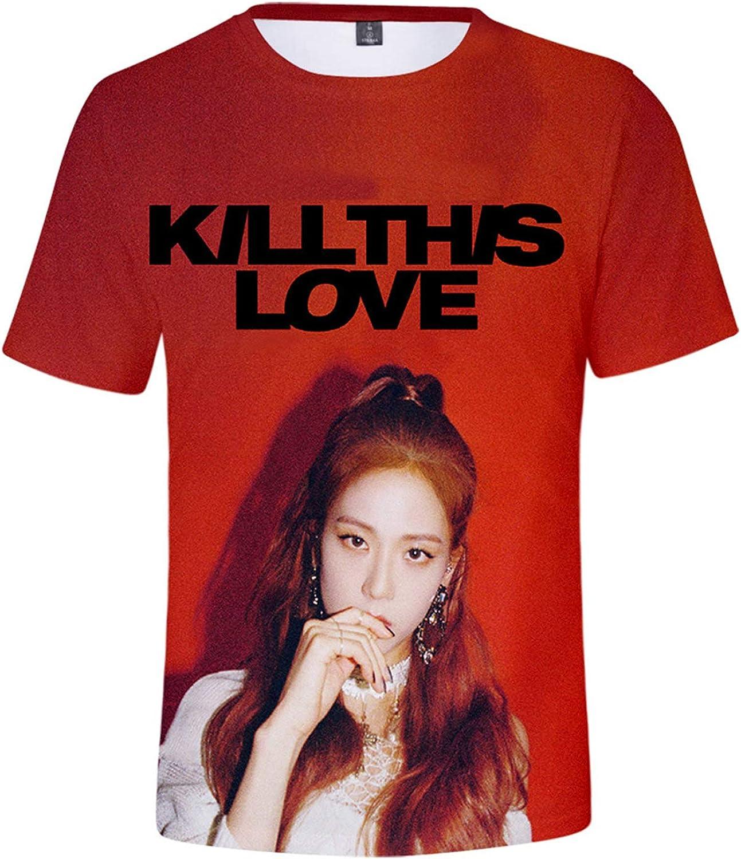 CHAIRAY Kpop Blackpink Shirt New Album Kill This Love Tshirt Lisa Rose Jennie Jisoo 3D Print Tee Shirt