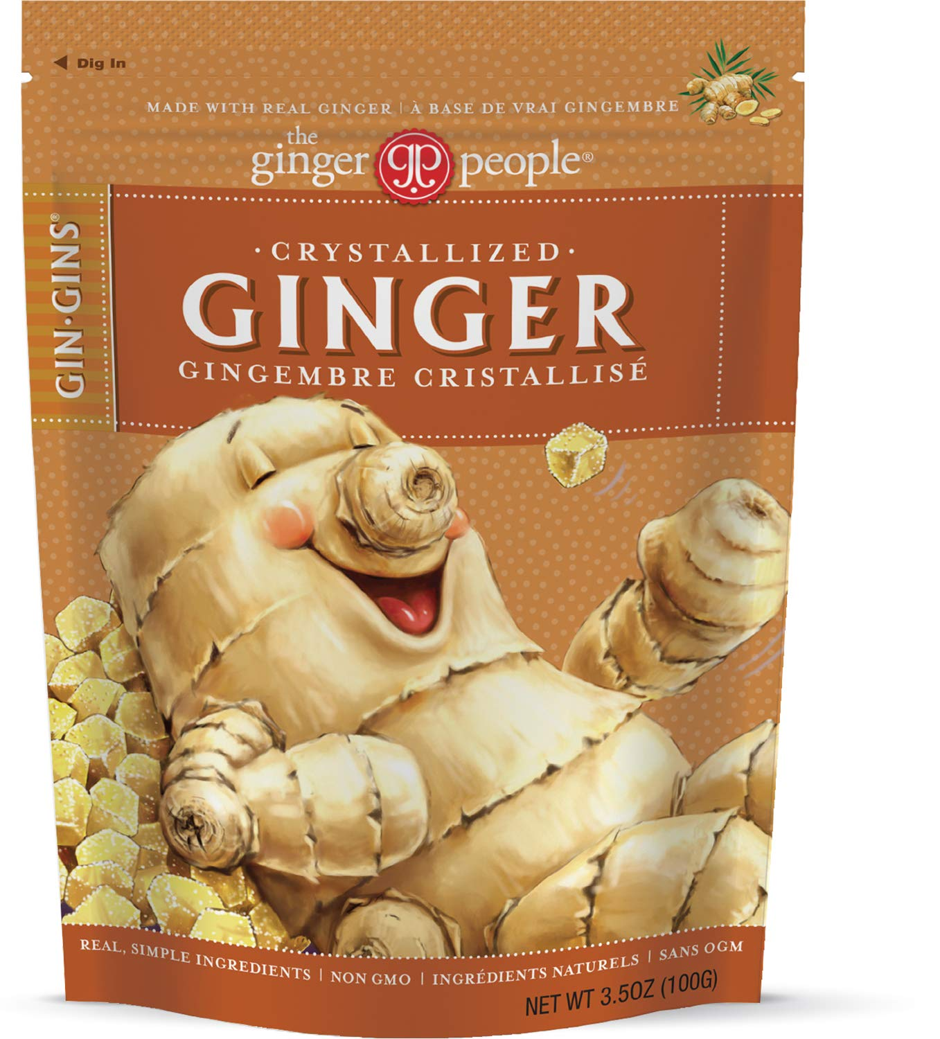 The Ginger People Crystallized Candy, 3.5 Ounce (Pack of 12) by The Ginger People