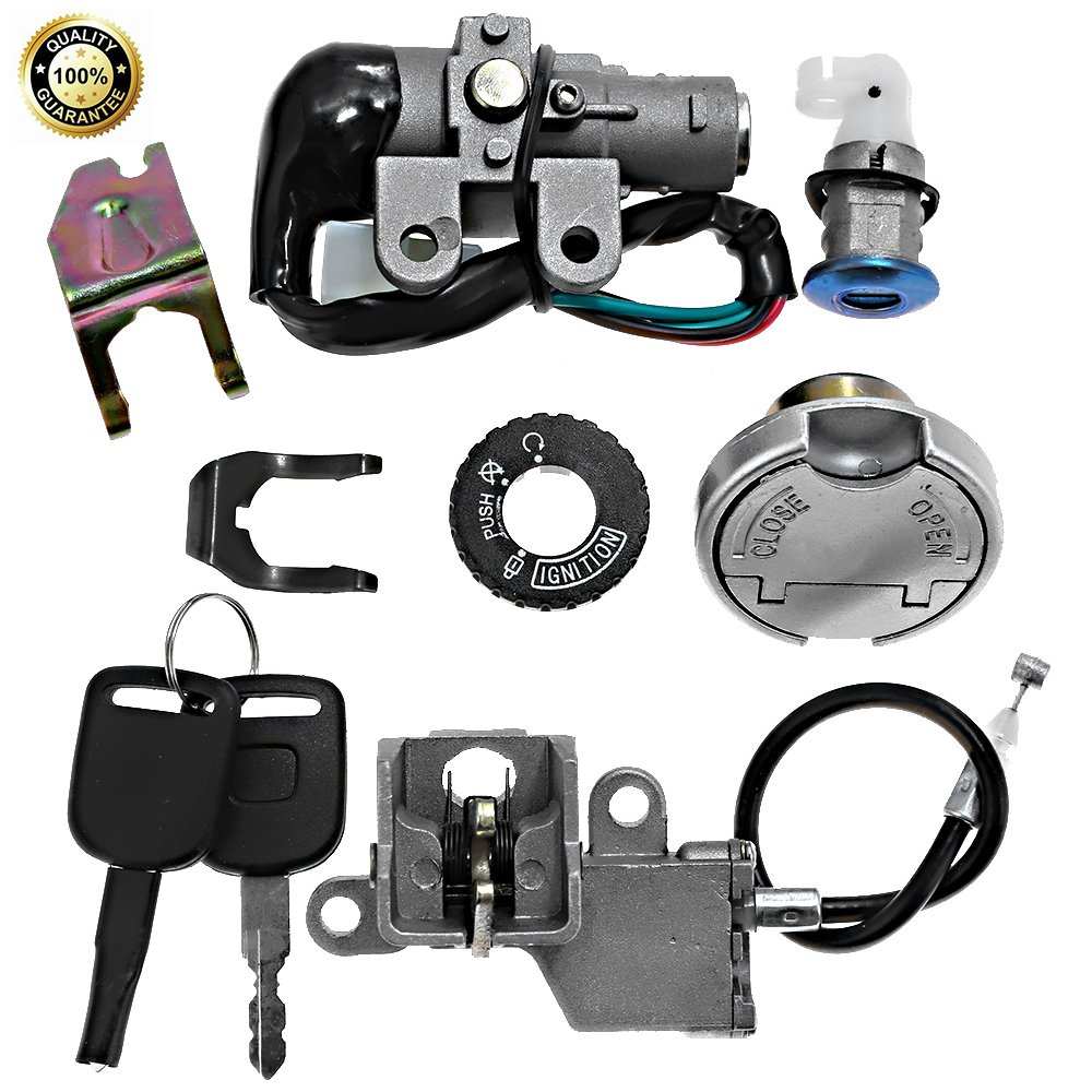 Scooter Ignition Switch Key Kit for 49cc 50cc 60cc 72cc 82cc 125cc and 150cc TaoTao Peace Roketa Jonway NST Tank Gy6 Scooter Moped