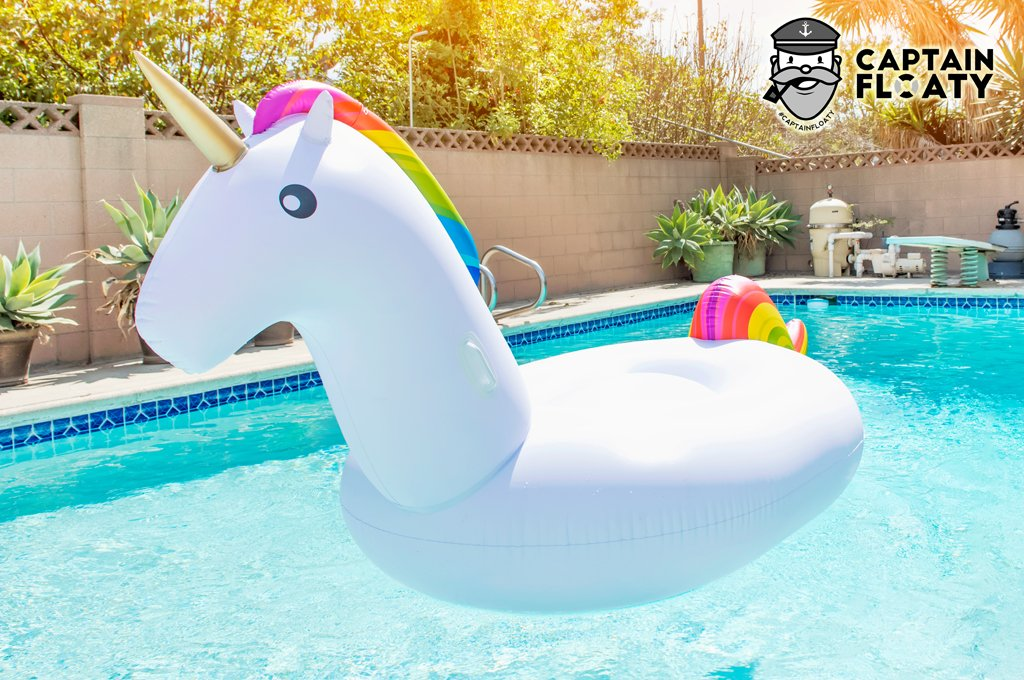 Amazon.com: CAPTAIN FLOATY Giant Inflatable Unicorn Pool Float, Pool Toy,  Huge 8 Foot Floatie (Giant Raft): Toys U0026 Games