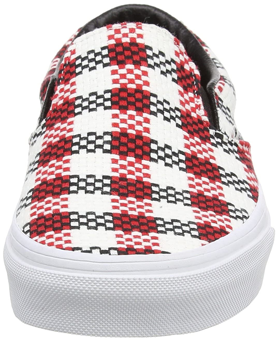 Vans Vans Vans Unisex-Erwachsene Classic Slip-On, Mehrfarbig Multicolour(schwarz/Weiß/ROT) 1d1d20