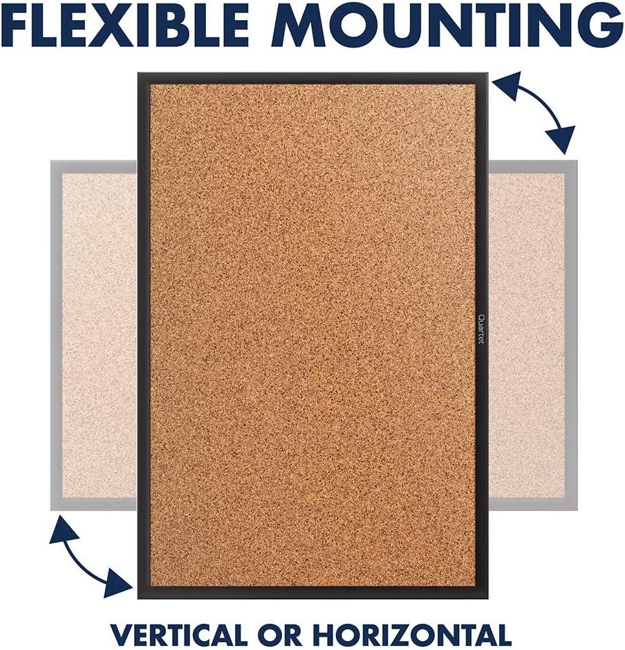 Quartet Cork Board, Bulletin Board, 2' x 1.5' Corkboard, Black Frame (2301B) : Office Products