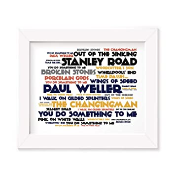 Paul Weller Poster Print - Stanley Road - Letra firmada regalo arte ...