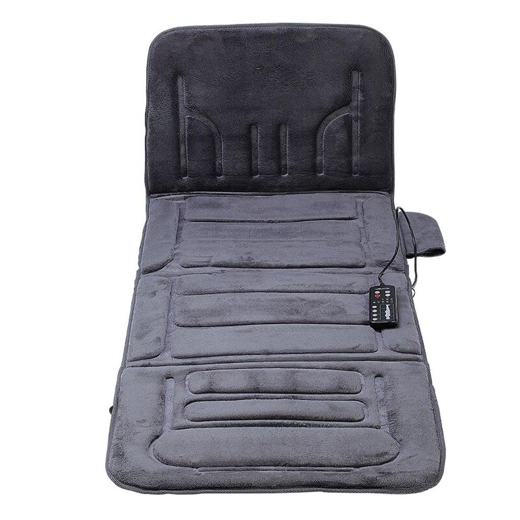 Lxn 全身加熱マッサージマット、温熱マッサージ、家庭用車の使用、175 * 57cm (色 : 暗灰色) B07GSL1DZX 暗灰色