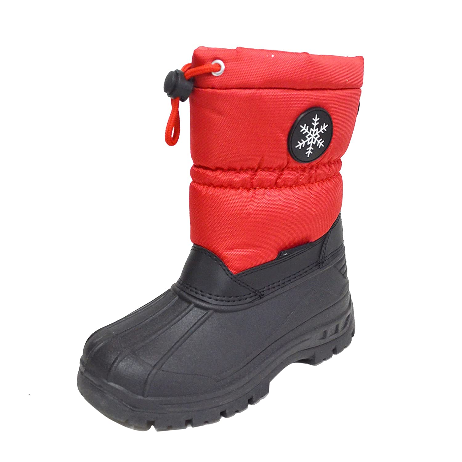 BABY03 Happy Bull Kids Big Boys Girls Winter Snow Boots Water Resistant Insulated Boots