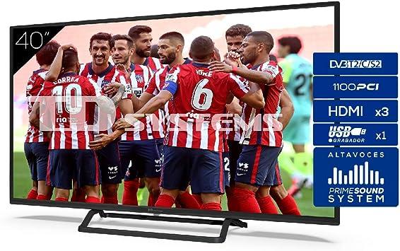 TD Systems Televisor 3X HDMI, VGA, USB, 1100 PCI Hz, Grabador Reproductor, DVB-T2/C/S2 Modo Hotel: Amazon.es: Electrónica