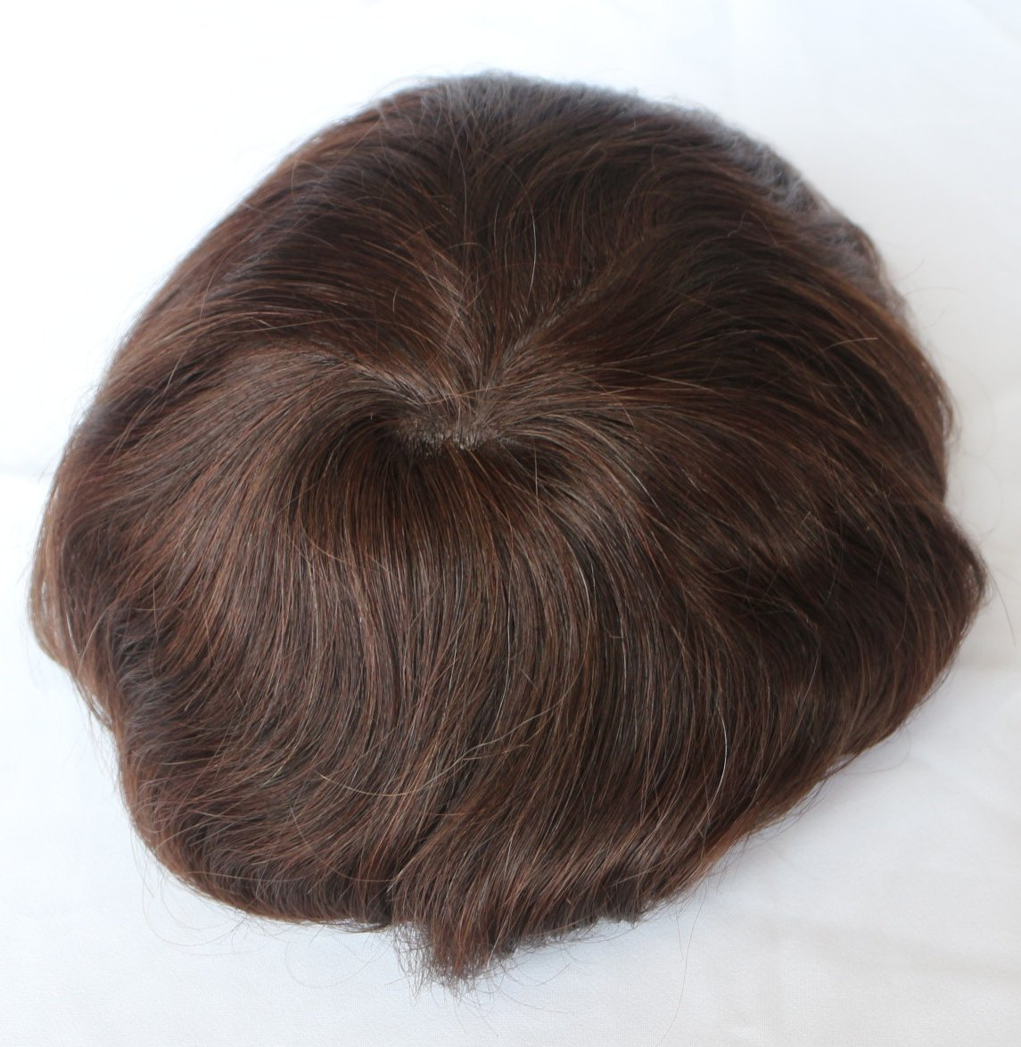 Human Hair 7x9 Swiss Lace Base Men's Toupee Hair Piece Hair System (Color 2)