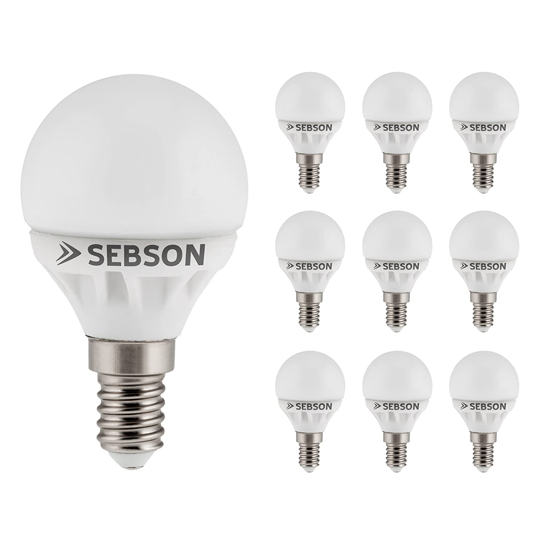 Sebson E14 LED 5 W Lampe Globe - vergleiche 40 W Glühlampe - 400 ...