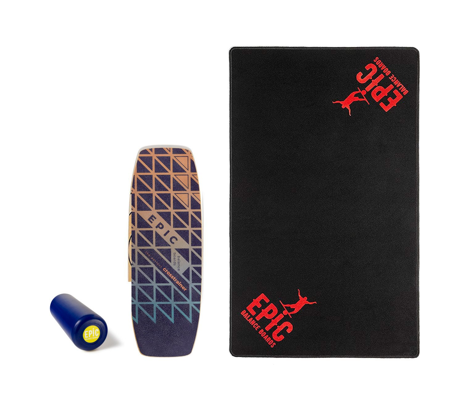 Epic Gamma + Floor MAT Balance Board - Balance Trainer - Epic Balanceboards