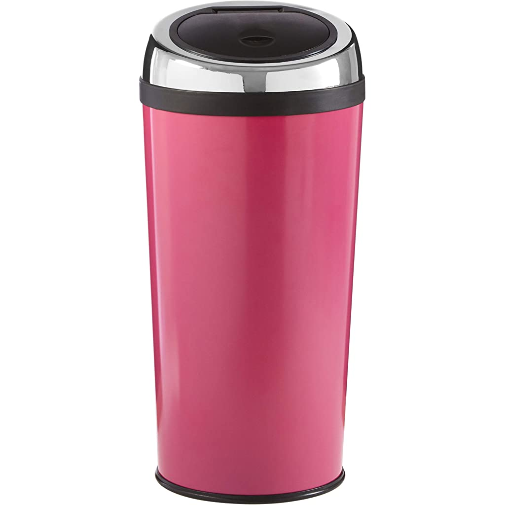 Premier Housewares Hot Pink Push Top Bin 30 Litre