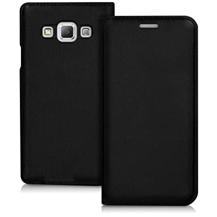 best sneakers 02dda 0f629 kwmobile Flip Case for Samsung Galaxy A3 (2015) - Book Style Protective  Front Flip Cover Smartphone Case - Black