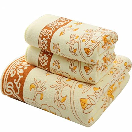 Familia viaje toalla de baño + toalla para adultos hombres y mujeres de espesor de succión de agua toalla toallas: Amazon.es: Hogar