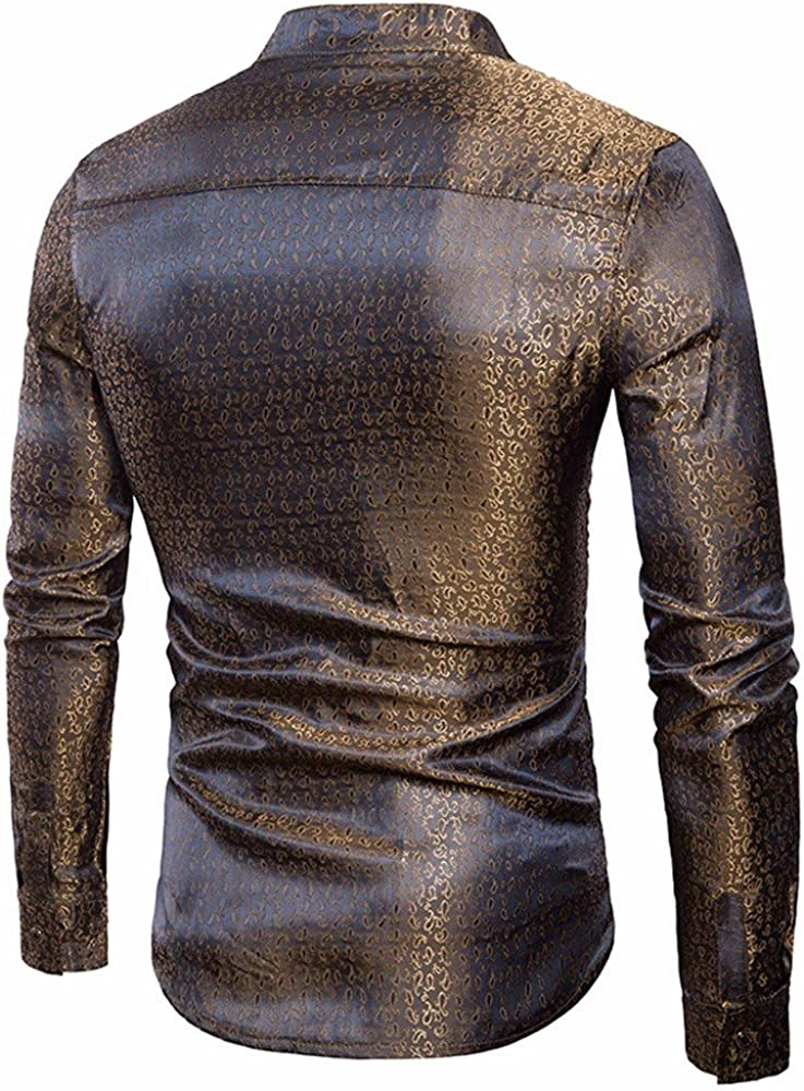 Men/'s Fashion Shirt Slim Fit Long Sleeve Casual Button Shirts Formal Top Blouse