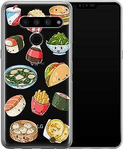 Vonna Phone Case Replacement for LG G8 ThinQ G7 G6 Velvet 5G V50 V40 V35 V30 Plus V20 Sushi Soft Cute Kawaii Cover Girl Junk Slim fit Taco French Smooth Print Fast Design Flexible Food Fries a642