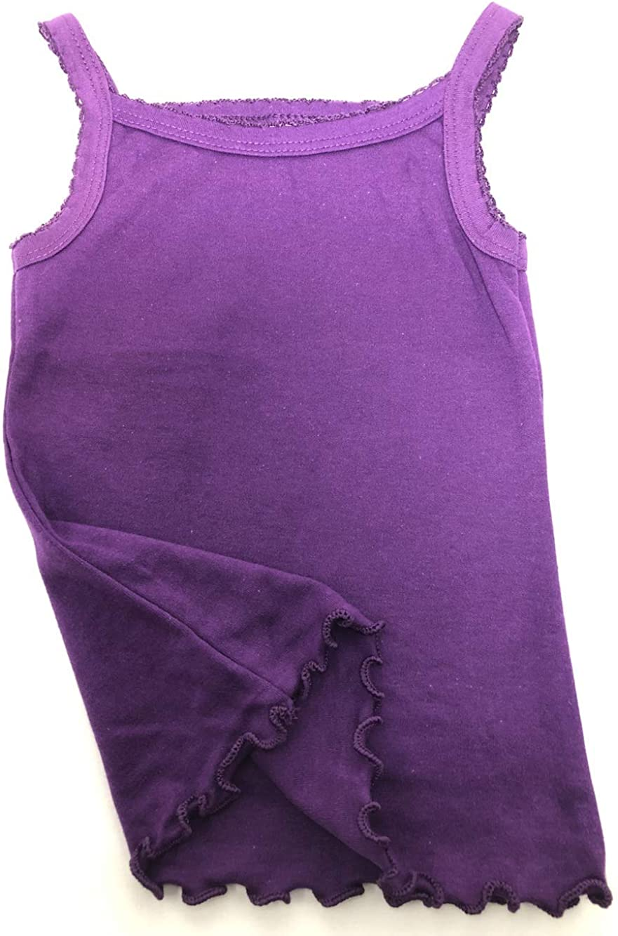 I/&S Girls 4 Pack Soft Cotton Cami Spaghetti Strap Tank Tops Undershirts
