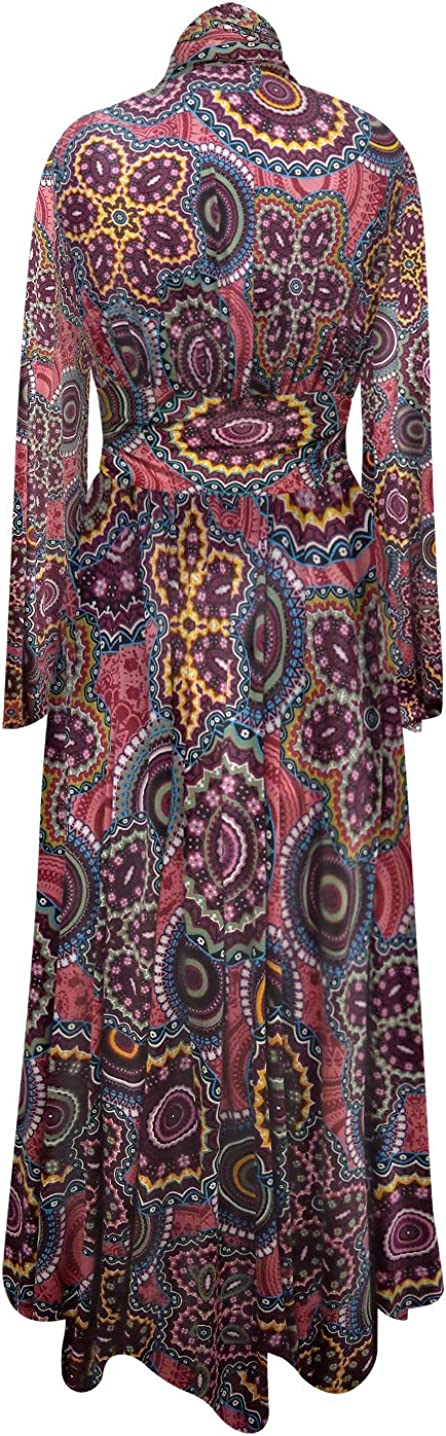 Retro Plus Size Ultra Soft Brushed Long Robe with Attached Belt in Lucys Good Trip Print