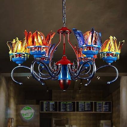 MOMO Estilo NÓRdico Color Pluma DecoraciÓN Creativo Hierro Candelabro Sala Restaurante IluminaciÓN Tienda De Ropa Ingenieria