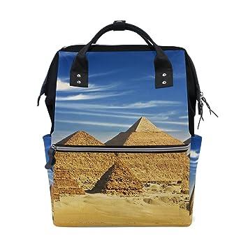 JSTEL - Bolsas para Ordenador Portátil, Universidad, Estudiante, Viaje, Egipto, pirámide, khafre y chufu: Amazon.es: Electrónica