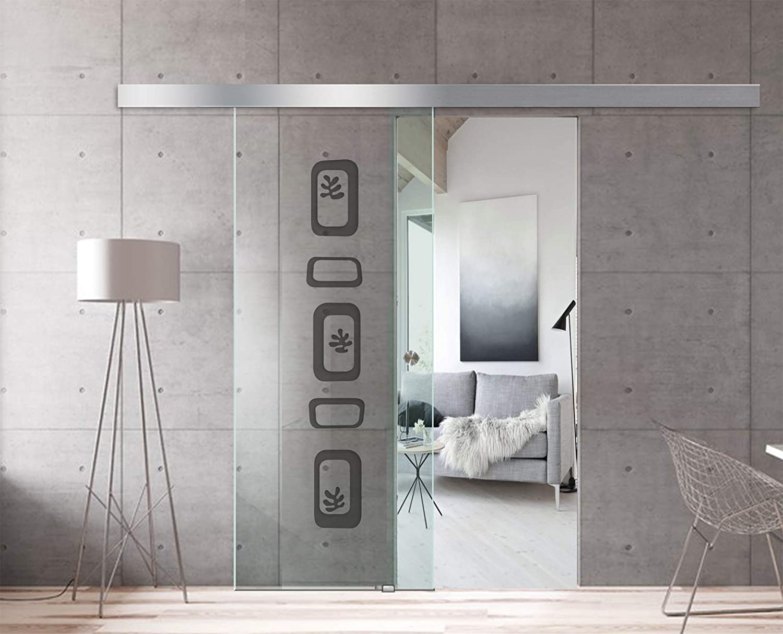 Modern Glass Art - Puerta corredera de cristal para interior diseño Boss - Cristal templado de seguridad de 8 mm de ...