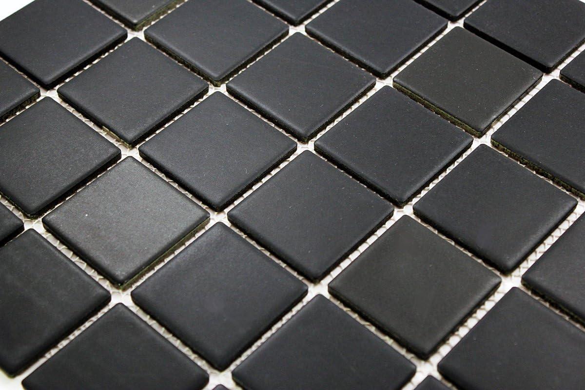 Porcelain Premium Quality 2x2 Black Square Matte Mosaic Tile Great For Bathroom Tile Floor Tile Wall Tile And Kitchen Backsplash Tiles On 12x12 Sheet Box Of 5 Pcs Amazon Com