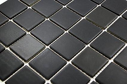 Porcelain Premium Quality X Black Square Matte Mosaic Tile Great - How many floor tiles come in a box