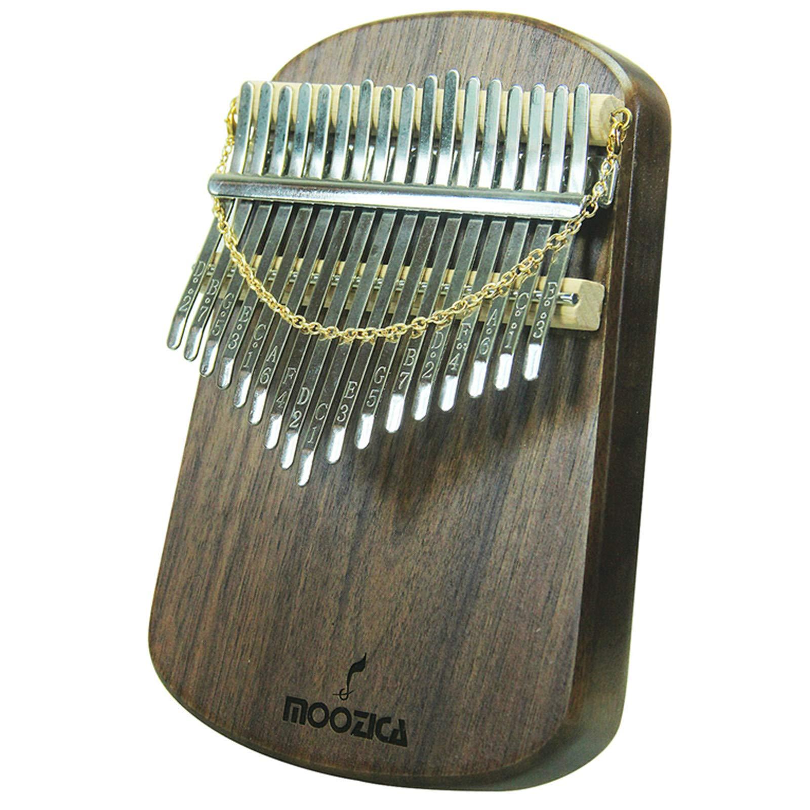 Moozica Kalimba 17 Keys Solid Walnut Wood Kalimba, Solid Walnut Wood Single Board Thumb Piano Marimba with Learning Instruction(K17S-W) by Moozica (Image #3)