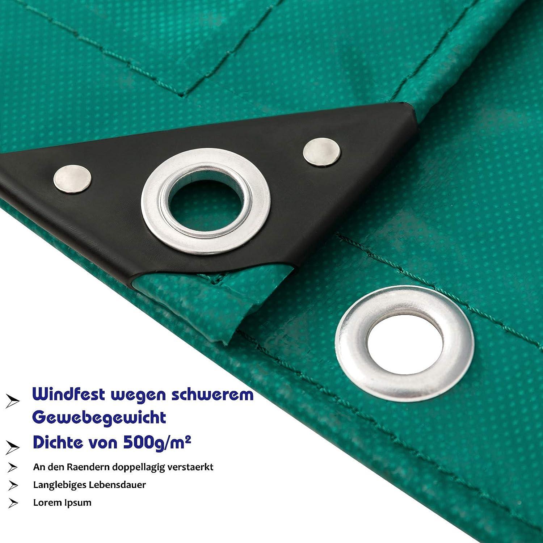 Piscina Color Verde 2x3m 0123PB EUGAD Lona Impermeable Exterior PVC Universal con Ojales Toldo y Duradera Resistente al Agua y a los Rayos UV Muy Gruesa para Muebles,jard/ín ,Coche