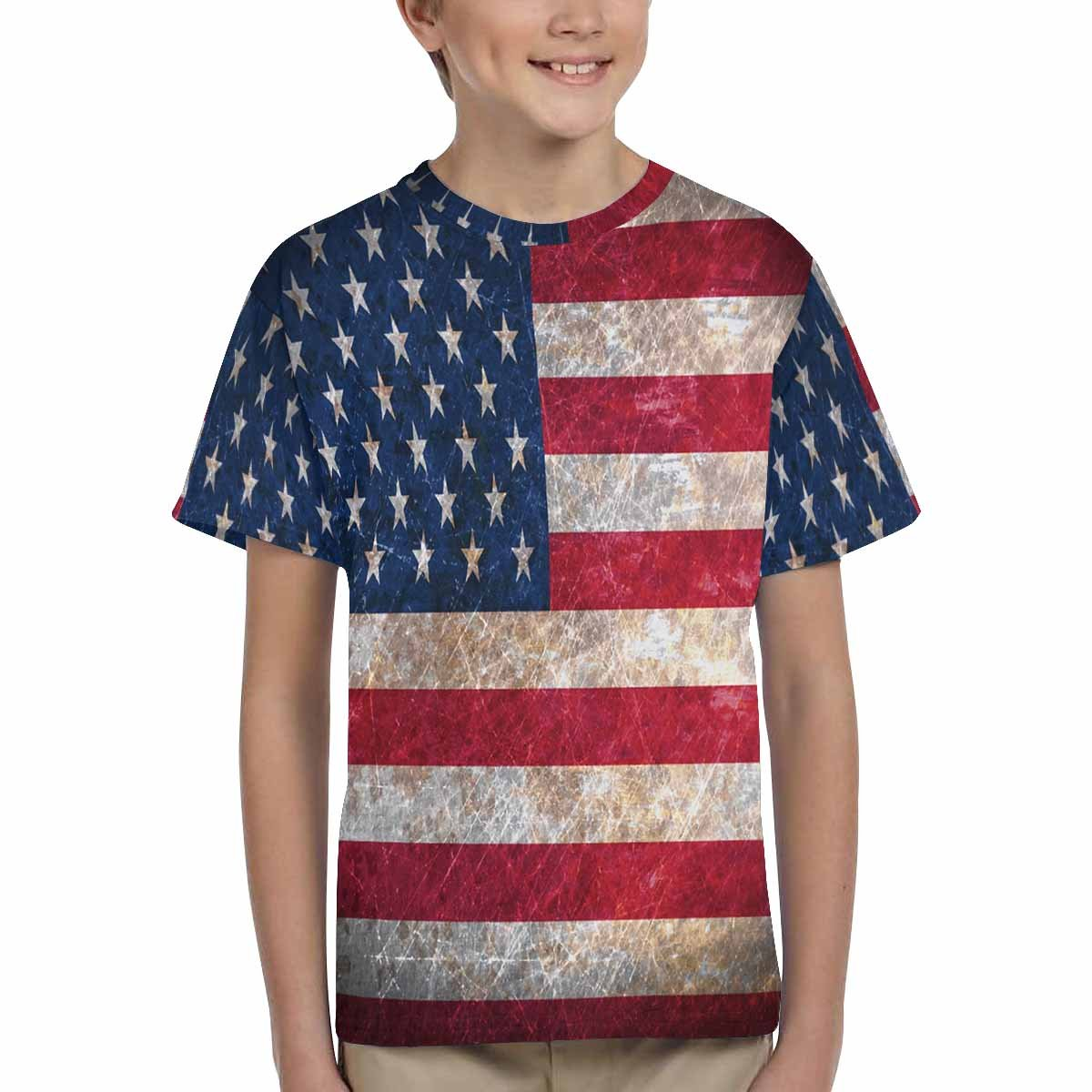 XS-XL INTERESTPRINT Old Rusty Flag United States of America Childs T-Shirt