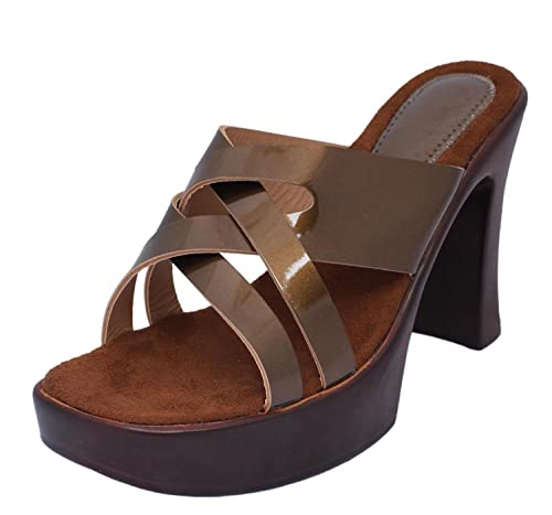 1fa8d082a Right Steps Women s Brown Sandals - 39 EU  Buy Online at Low Prices in India  - Amazon.in