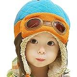 Tonsee® Garçons Hiver Chaud Cap chapeau bonnet aviateur pilote Crochet Earflap chapeaux