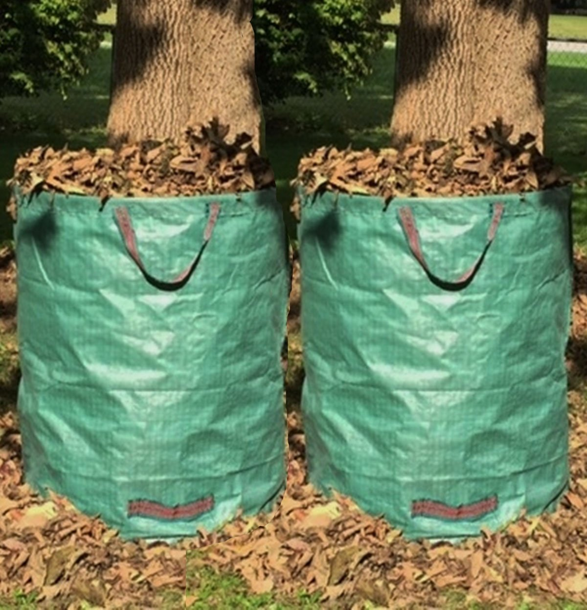 Go-GreenGardening 2-Pack Large Reusable Lawn, Leaf & Garden Waste Bag Collapsible- 72 Gallon by Go-GreenGardening