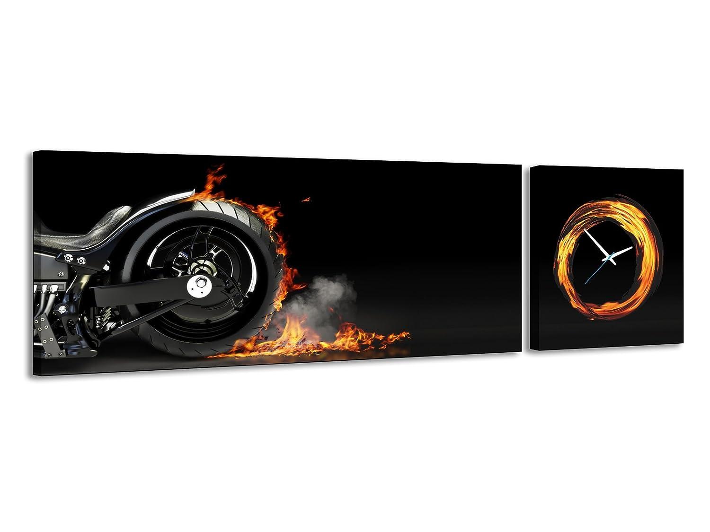 Power Motorrad Reifen Schwarz Panorama Cruiser Brand Uhr Wanduhr Feuer In Chopper Harley qSUMLzVGp