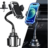Anwas Cup Holder Phone Mount, [Fit All Cup Holders & Thick Phone Case], Sturdy Stable Adjustable Gooseneck Cup Cradle Mount,