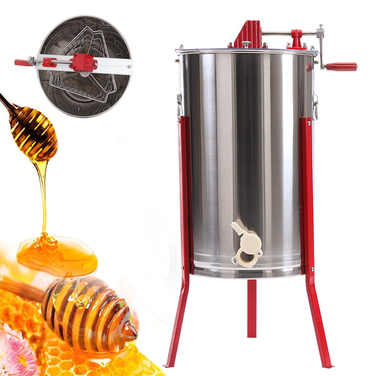 Ridgeyard Pro 3 Frame Manual Stainless Steel Bee Honey Extractor Beekeeping Equipment Honey Oil
