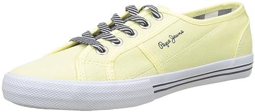 Pepe Jeans London Baker Basic S, Zapatillas para Niñas, Amarillo (Lemon), 37 EU