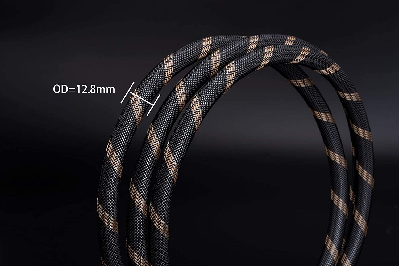 Amazon.com: SKW Negro OCC 24 K Wire Cobre Audio Line macho a ...