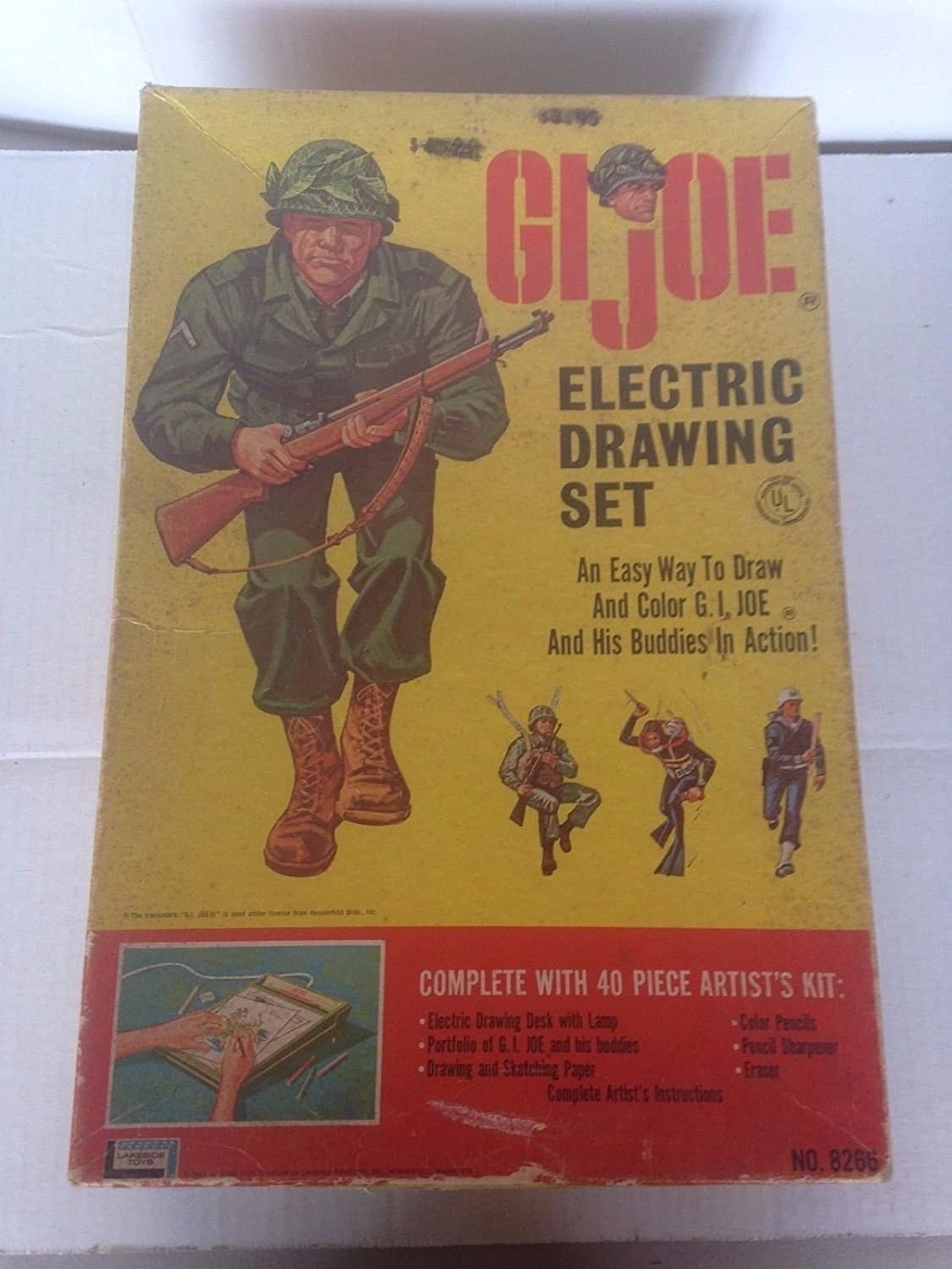 Gi Joe Electric Drawing Set Original Box 1965 At Amazons Electrical Text Book Entertainment Collectibles Store