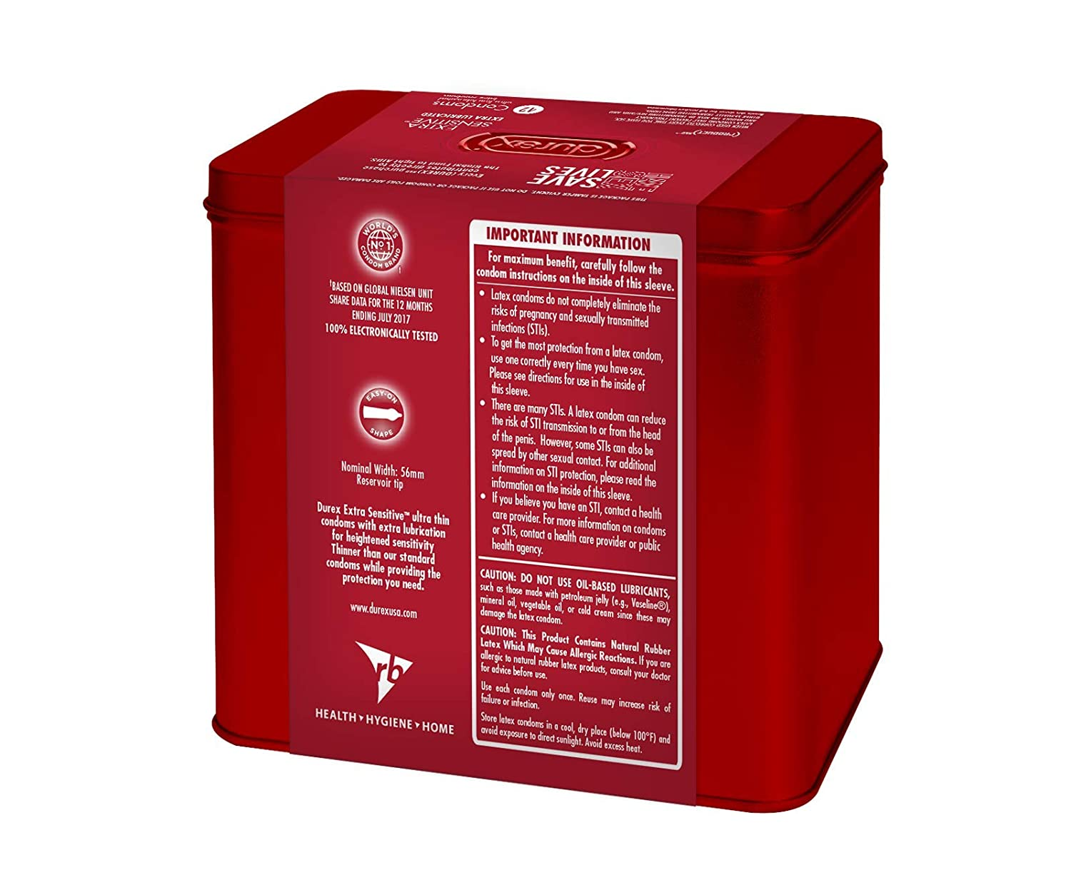 Durex Red Condom Extra Sensitive 42 Count Ultra Play Intimate Lube 100 Ml Free Kondom Ribbed Isi 3 Fine Lubricated Natural Latex Condoms Product Health Personal Care