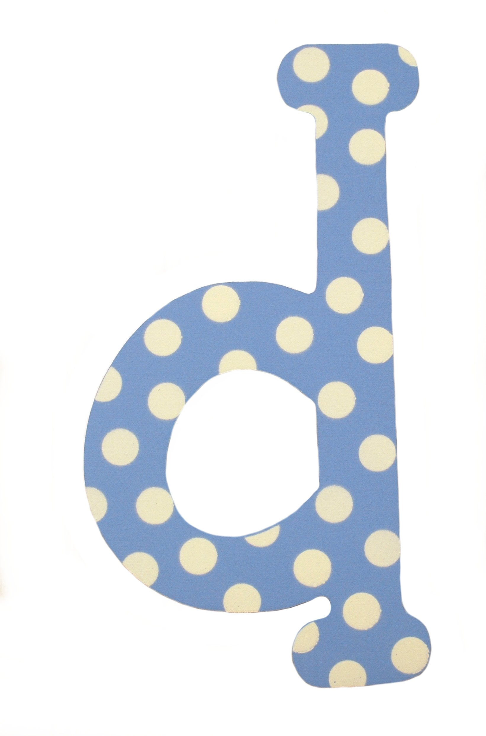 My Baby Sam Polka Dot Letter d, Blue/White