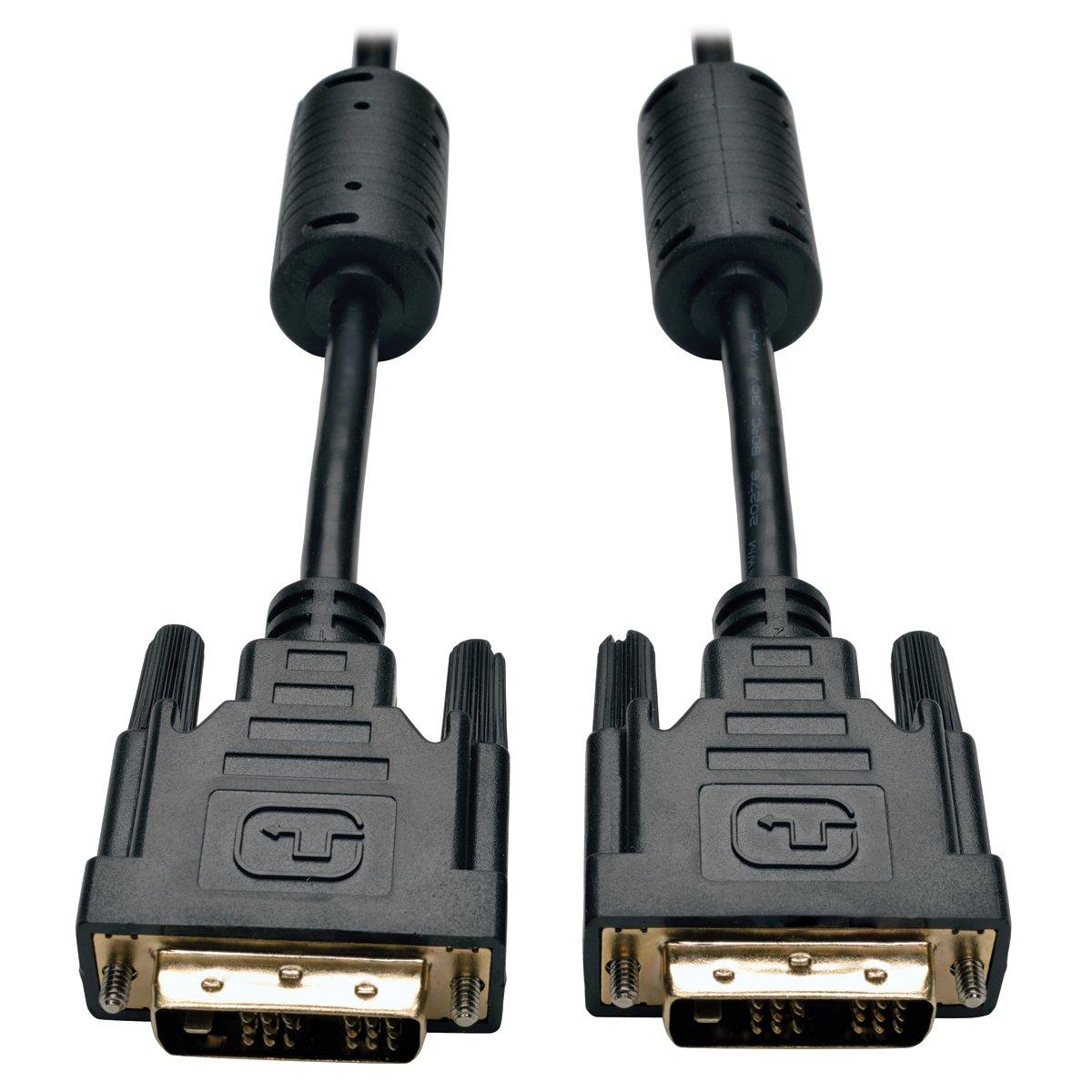 Tripp Lite Câble DVI Single Link, numérique TMDS Câble moniteur DVI-D (M/M) 0.91 m (3-ft.) noir numérique TMDS Câble moniteur DVI-D (M/M) 0.91 m (3-ft.) noir P561-003