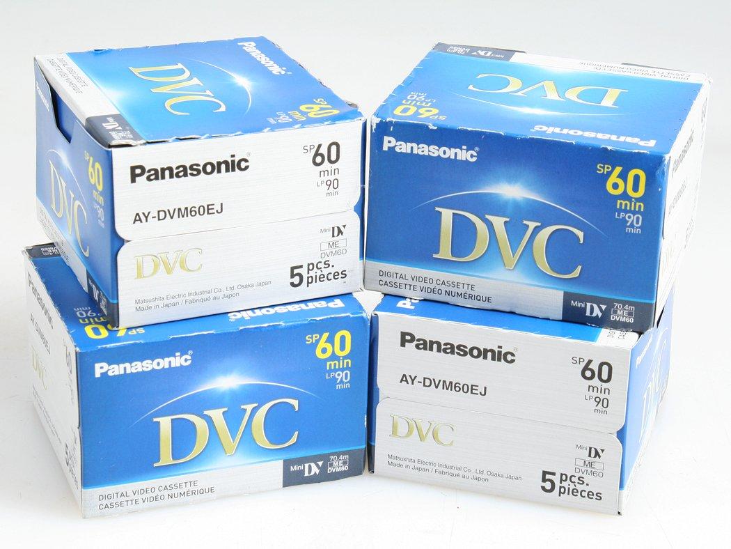 20 PANASONIC 60 MIN. MINI DV DVC RECORDING TAPES , NEW by Panasonic