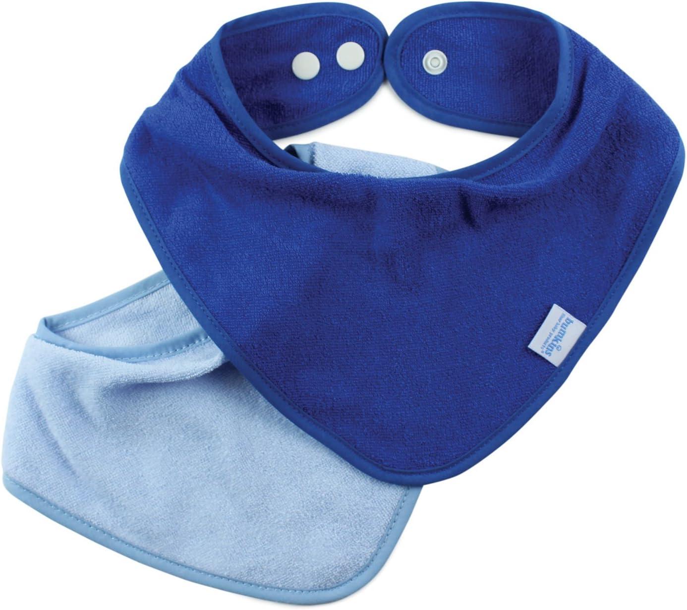 Bumkins 2 Count Absorbent Cotton Bandana Bib Blue