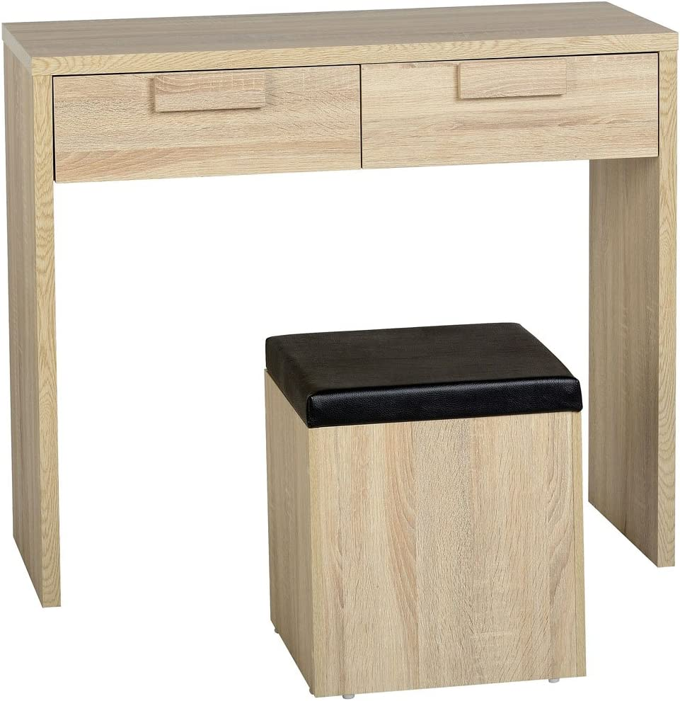 Home Essentials Inc Seconique Cambourne 2Drawer Dressing Table Stool Set