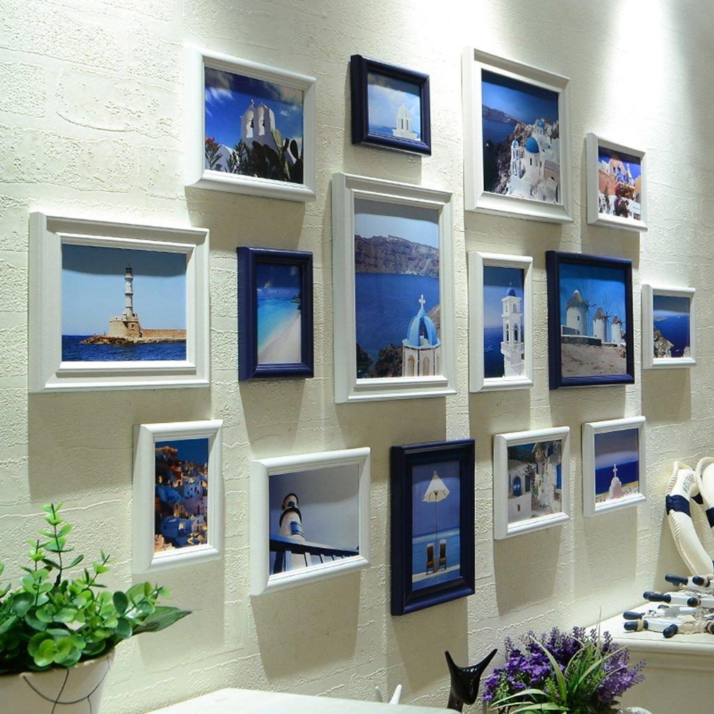 ZYANZ Modern Fashion Photo Wall, Solid Wood Rectangular Photo Frame (15 Packs)
