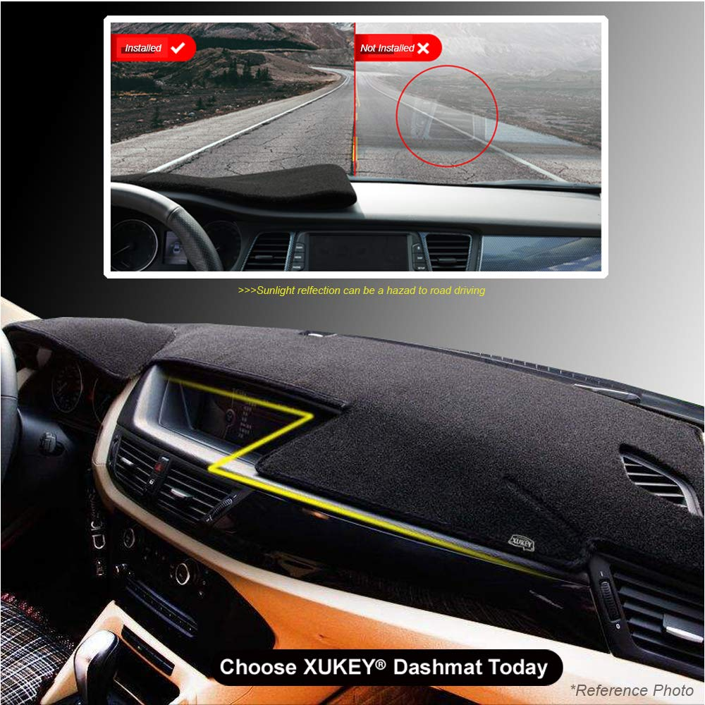 XUKEY Dashboard Cover for Hyundai Accent 2012 2013 2014 2015 2016 2017 Dash Cover Mat