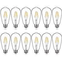12-Pack SHINE HAI Edison Vintage LED Filament Light 4W Bulbs (Warm White)