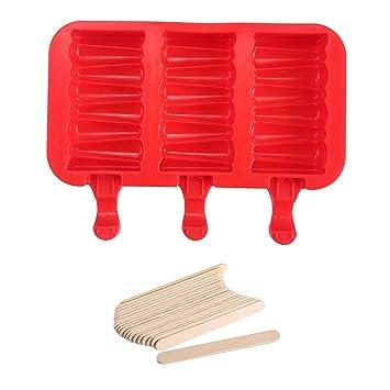 Aolvo Moldes de silicona reutilizables para amapolas caseras, moldes de silicona para hacer hielo,