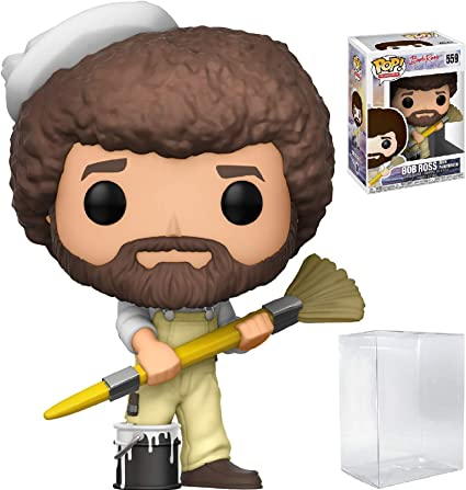 Funko Pop TV Bob Ross with Paintbrush Figure Bob Ross The Joy of Painting